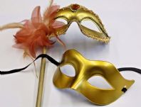 Gold Couples Masks